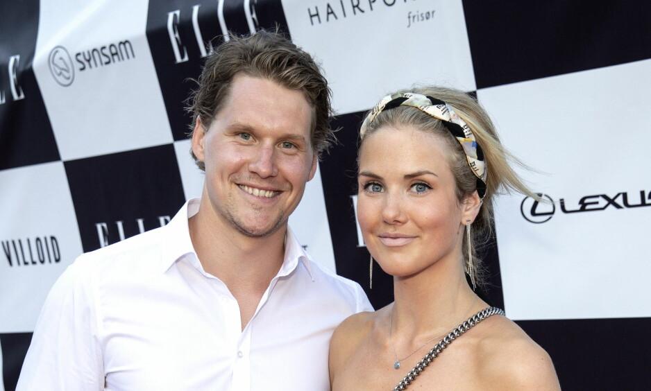 PÅ FEST: Kjæresteparet Silje Norendal og Alexander Bonsaksen tilbringer all tid de får sammen. Her under Elle-festen på Tjuvholmen forrige uke. Foto: Andreas Fadum / Se og Hør.