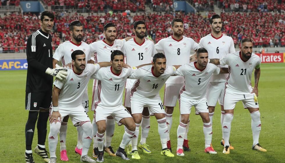 SKOTRØBBEL: Kun dager før VM stoppet Nike leveransen til Iran sitt fotballandslag. Foto: AP Photo/Lee Jin-man
