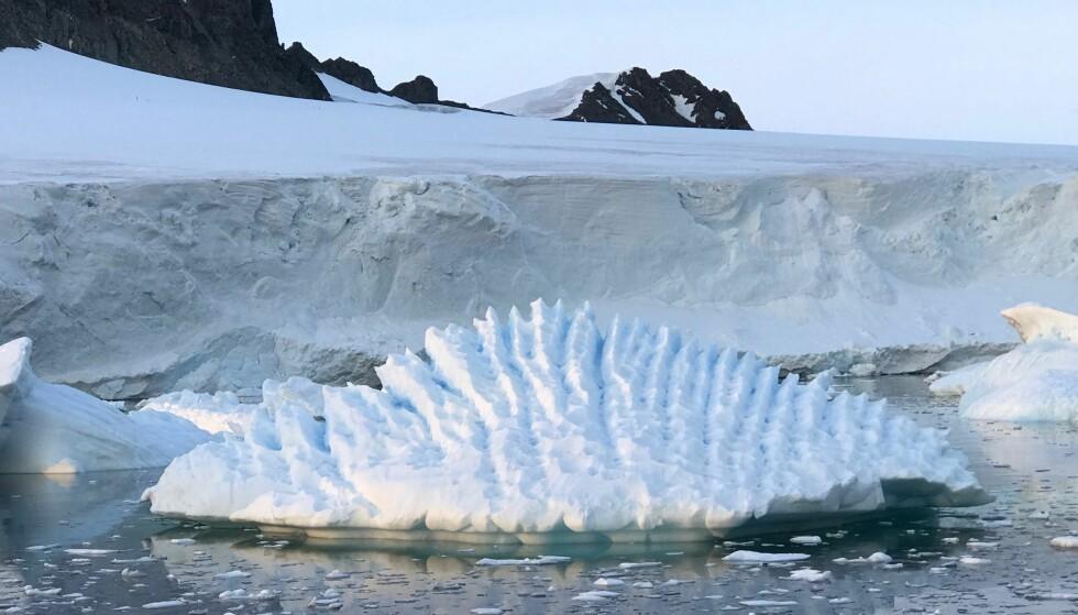 SMELTER RASKERE: Iskappen som dekker Antarktis, smelter raskere enn det forskerne har antatt. Foto: AP / NTB scanpix