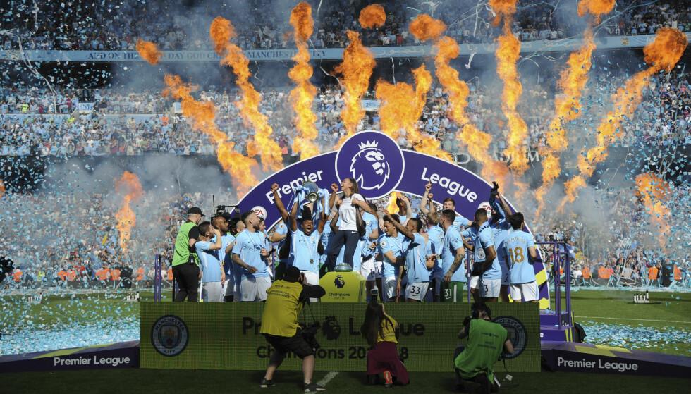 TITTELFORSVARERE: Manchester City serieåpner mot Arsenal. Foto: NTB/Scanpix