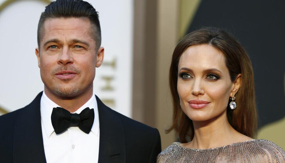 UENIGHETER: Skilsmissen mellom Brad Pitt og Angelina Jolie har langt i fra gått stille for seg. Nå har nye rettsdokumenter skapt enda mer uenighet. Foto: NTB Scanpix