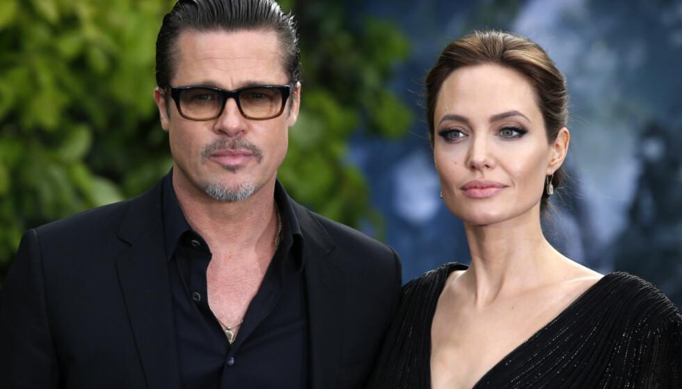 BITTERT BRUDD: Det er snart to år siden nyheten om bruddet mellom Brad Pitt og Angelina Jolie ble kjent. I dag kjemper de fremdeles om omsorgsretten for barna. Foto: NTB Scanpix