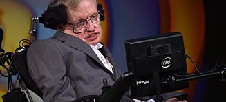 Hyllest til Stephen Hawking blir sendt ut i verdensrommet