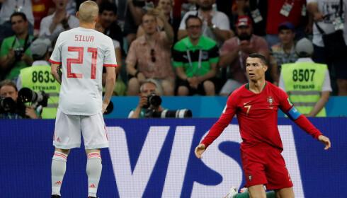 DEN AVGJØRENDE FORSKJELLEN: VMs toppscorer Cristiano Ronaldo er i gang. Hans avslutningskvalitet ble avgjørende mot Spania. FOTO: Reuters/Carlos Barria