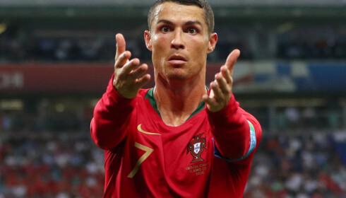 JA, DU ER GOD: Cristiano Ronaldo scoret hat trick. Foto: NTB Scanpix