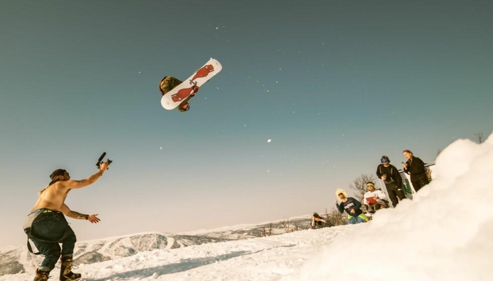 I FORM: Selv om det er mer enn sju år siden han la opp som profesjonell snowboardkjører, skal Daniel Franck fortsatt være i knallform. Bildet er tatt rett før ulykken inntraff 14. april. Foto: Privat