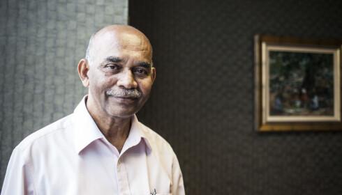 FORSVARER: Chandra Mohan K. Nair jobber for å få omgjort den brutale straffen. Foto: Marie Røssland / Dagbladet