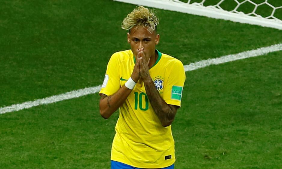 UAVGJORT: Neymar og de andre brasilianske stjernene fortvilte etter kun ett poeng mot Sveits. Foto: Action Images / Jason Cairnduff
