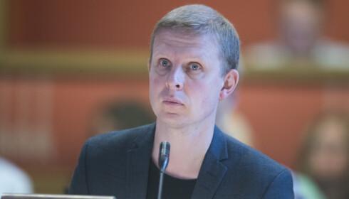 KrFs Erik Lunde mener Listhaug alltid skylder på andre. Foto: Terje Pedersen / NTB scanpix