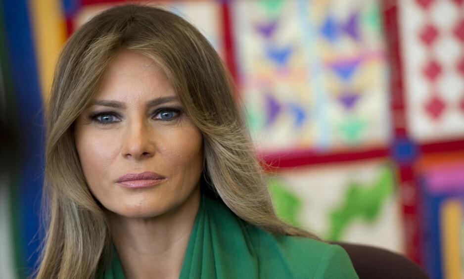ULIKT MELANIA: Uttalelsen fra den ellers stille Melania Trump har skapt stor oppsikt. - Ulikt en førstedame, sier Ole O. Moen professor emeritus i Nord-Amerikastudier. Foto: AFP