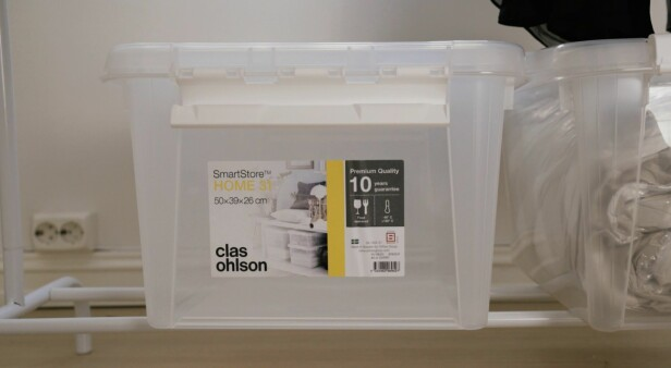 SYSTEM: SmartStore-boksene gjør det enkelt å stable i høyden.