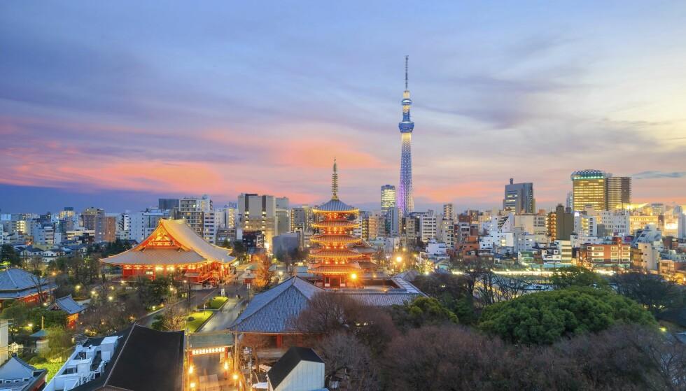 METROPOL: Tokyo byr på både trend og tradisjon. Byen er et fantastisk reisemål – uansett om du er opptatt av mat, mote eller uteliv. Foto: Shuyyerstock / NTB Scanpix