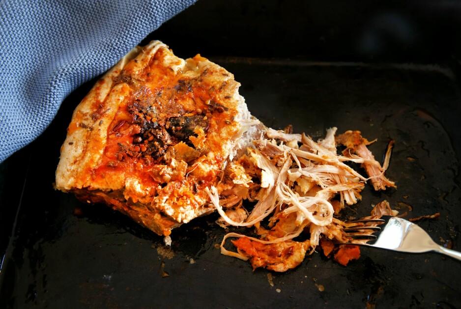 SVINAKTIG GODT: Milde varianter av pulled pork kan gjerne spises kalde.