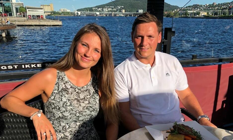 NY KJÆRESTE: Håndballspiller Joakim Hykkerud har funnet lykken med Camilla Groth. Foto: Instagram