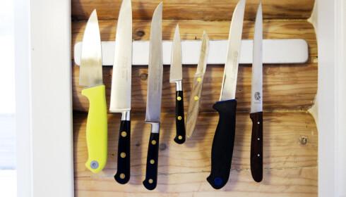 Kjøkkenkniver skal ikke i oppvaskmaskinen.. Foto: Cornelius Poppe / SCANPIX