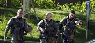 Politiet: Skytteren var bevæpnet med pumpehagle og røykgranater