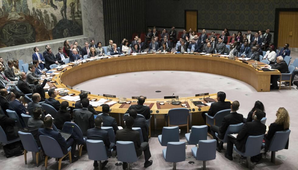 SVERIGE OVERTAR: På søndag overtar Sverige formannskapet i FNs sikkerhetsråd. Foto: AP / NTB scanpix