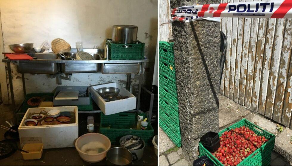 AVSLØRT: Elendige boforhold, avføring ved jordbæråkrene og manglende arbeidskontrakter var bare noe av det som ble oppdaget. Foto: Arbeidstilsynet