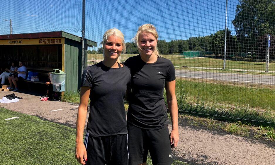 KNYTTET TIL FRANKRIKE: Både Andrine og Ada Hegerberg spiller i fransk toppdivisjon. Foto: Marthe Ihle