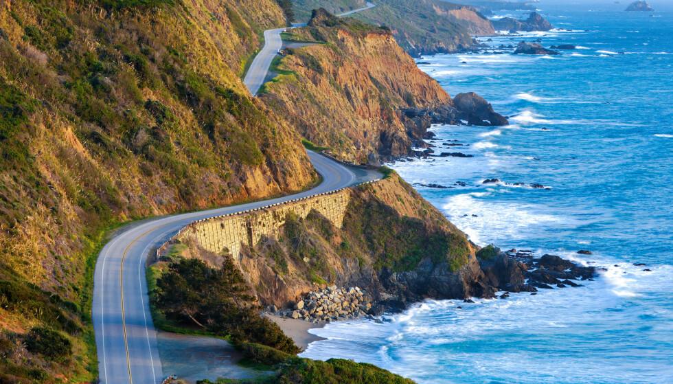 iVERDENS VAKRESTE: Highway 1 langs Stilehavskysten i California er flere ganger kåret til verdens vakreste biltur. Foto: Shutterstock / NTB Scanpix