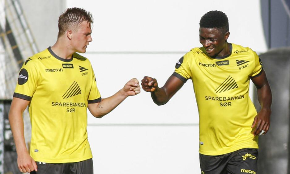 VIKTIGE POENG: Start står nå med fjorten poeng i Eliteserien - like mange som Stabæk. Foto: Tor Erik Schrøder / NTB scanpix