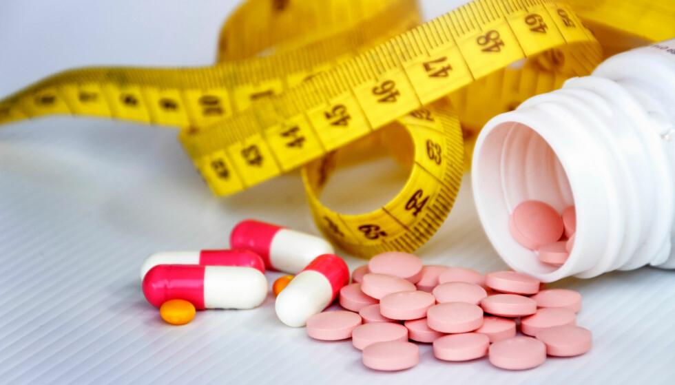 VEKTREDUKSJON: - Slankemidler kan være fin drahjelp for dem som trenger det, men det er hele tida en forutsetning at medikamentene kombineres med omlegging av kostholdet og økt fysisk aktivitet for å oppnå god effekt, sier klinisk ernæringsfysiolog Tine Sundfør. Foto: Ropisme / Shutterstock / NTB Scanpix