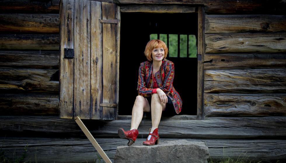 TROLLKVINNE: I sommer spiller Mari Maurstad rollen som Grima i «Spelet om Heilag Olav» for andre året på rad. Bildet er tatt på Norsk Folkemuseum. Foto: Bjørn Langsem