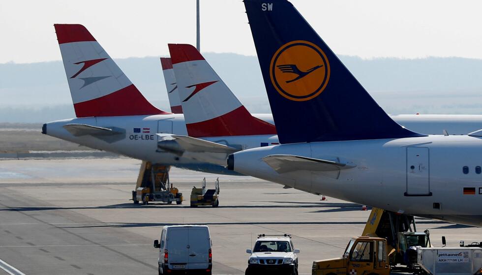 ALARM: Det ble slått full alarm på den travle flyplassen i Wien da en ung amerikansk kvinne ville sjekke inn udetonert granat inn i flyet. Foto: NTB Scanpix