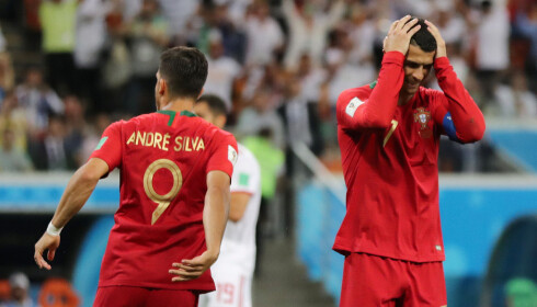 BOM: Cristiano Ronaldo har nettopp bommet på straffe mot Iran. Foto: REUTERS/Ivan Alvarado/NTB Scanpix