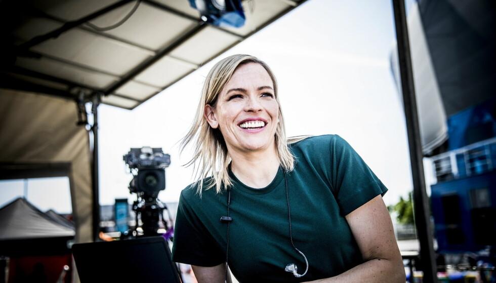 PERMISJON: Sportsanker Carina Olset skal tilbringe sommeren hjemme med sin nyfødte datter, Pernille. Her fra Telenor Arena i Bærum i fjor. Foto: Christian Roth Christensen / Dagbladet