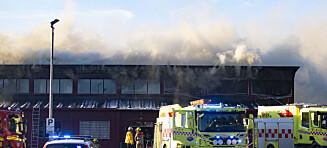 Brann på videregående skole i Lillestrøm