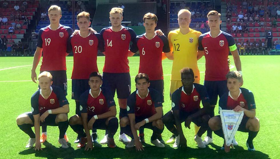 TAPTE: Det norske G19-laget var i aksjon mot Portugal i EM mandag ettermiddag. Foto: NFF