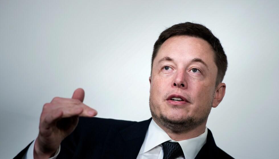 TESLA-STUP: Elon Musks twitterangrep mot en britisk grottedykker gikk ikke bare utover hans personlige anseelse, men også Tesla-aksjene. Foto: AFP Photo / NTB Scanpix