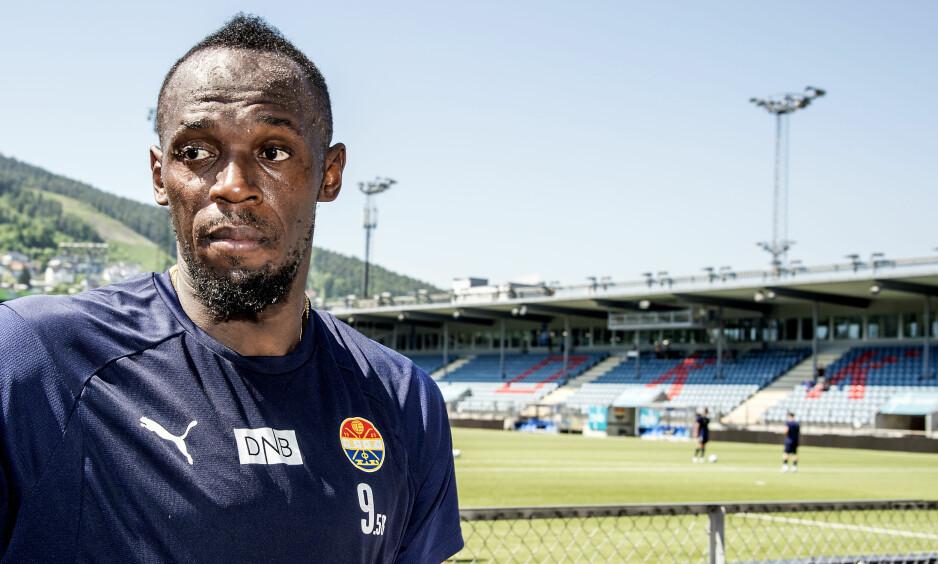 NY KLUBB: Usain Bolt prøver seg denne gangen i australsk fotball. Foto: Hans Arne Vedlog / Dagbladet.