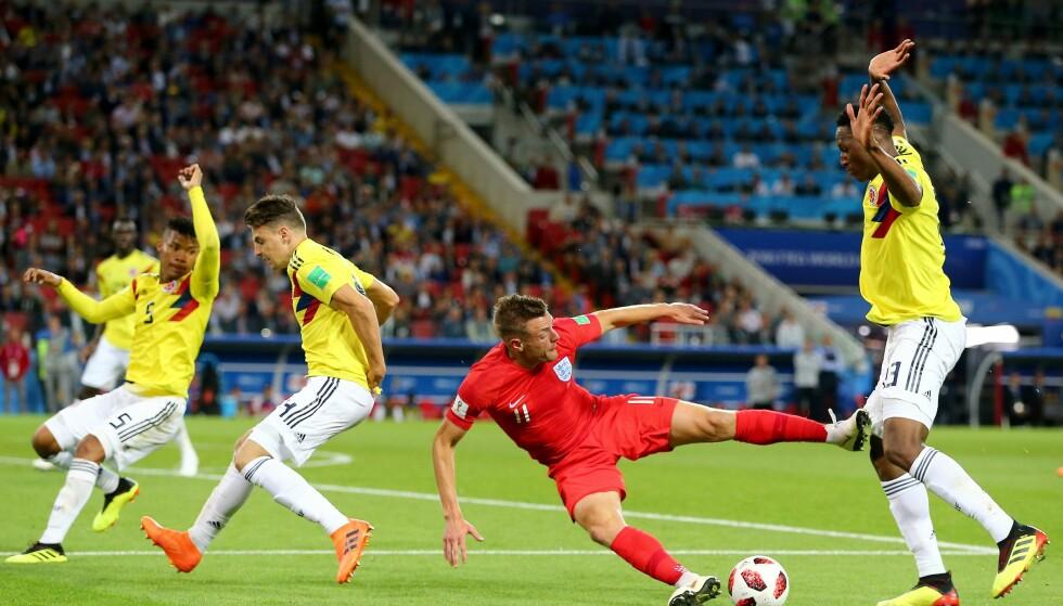 VAR IKKE NOK: FIFA må ta flere grep, skriver innleggsforfatter. Bildet er fra fotballkampen mellom England og Colombia. Foto: Michael Zemanek / BPI / Shutterstock /NTB Scanpix