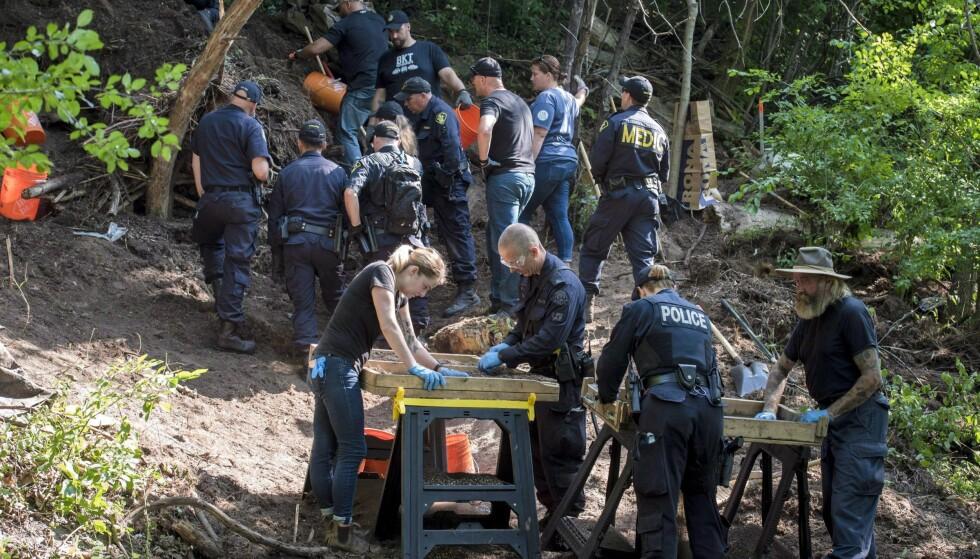 UTGRAVING: En gartner i Canada er siktet for å ha drept sju homofile menn. Politiet frykter det kan dreie seg om enda flere ofre. I forrige uke avsluttet politiet en utgraving. De fant levninger etter mennesker «nesten hver dag». Foto: NTB Scanpix