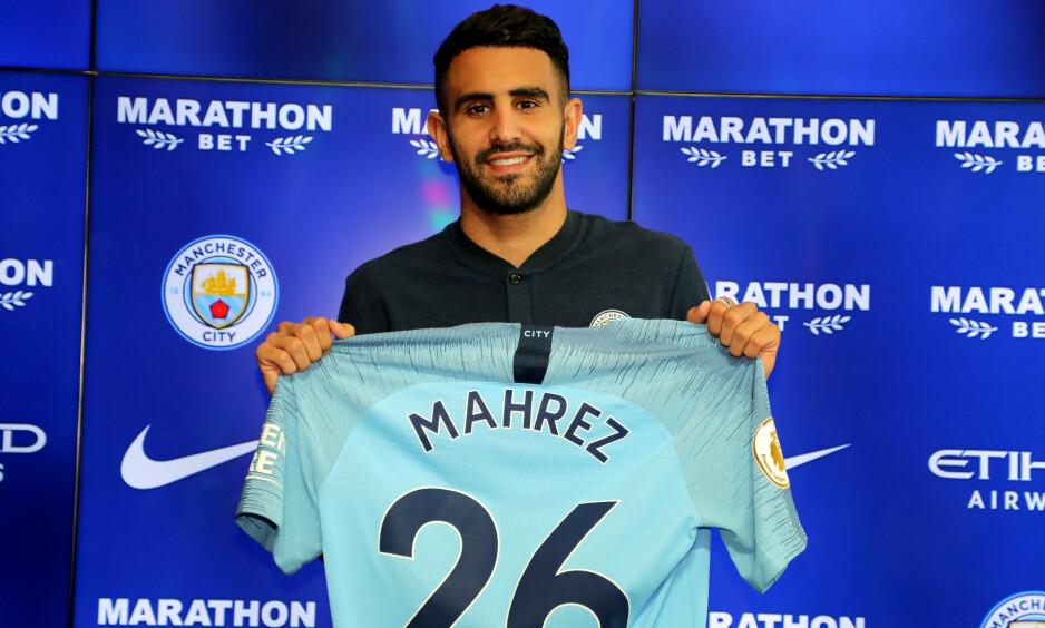 STOR OVERGANG: Riyad Mahrez forlot Leicester til fordel for Manchester City. Foto. Pa Photos / Richard Sellers / NTB Scanpix