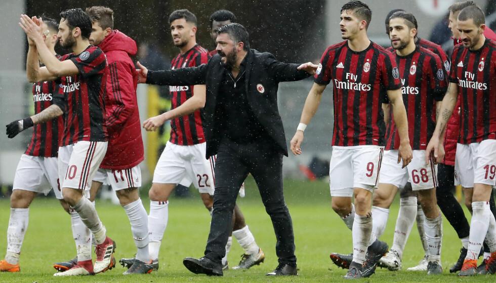 FÅR SPILLE VIDERE: Gennaro Gattusos mannskap. Foto: NTB SCanpix