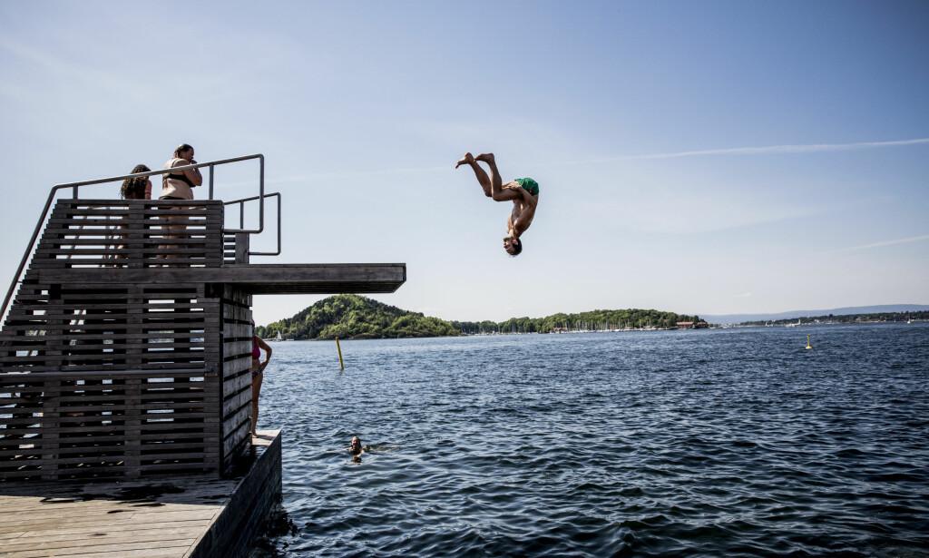 SOMMER: I flere uker har det vært fint vær på Østlandet, som her på Sørenga i Oslo. Foto: Christian Roth Christensen / Dagbladet