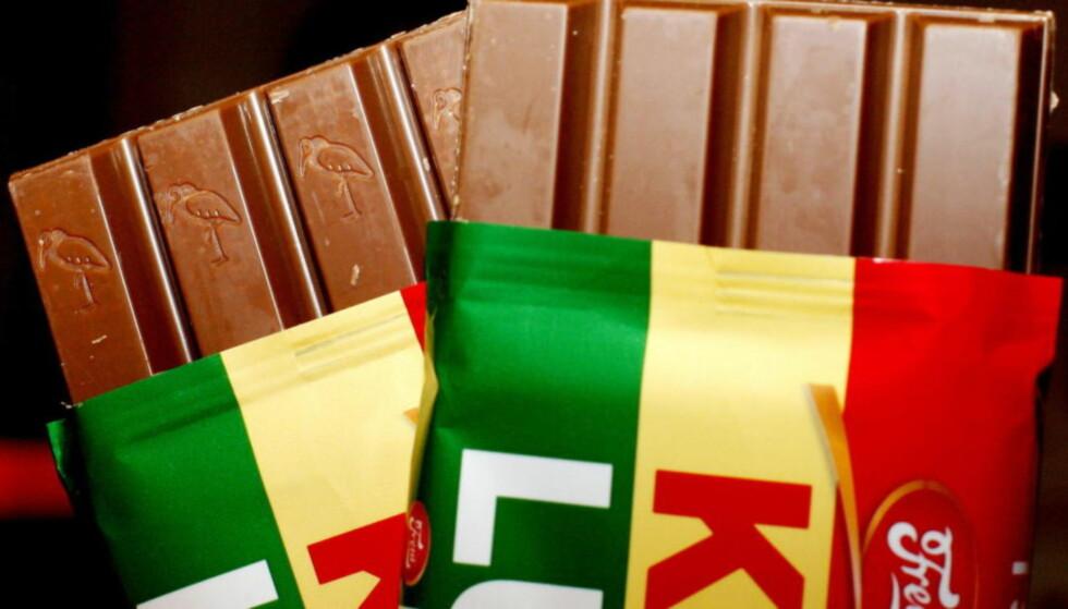 SEIER: Kvikk Lunsj har like mye rett som Kit Kat til å ha avbrekkbare sjokoladefingre. Det har EU-domstolen avgjort i dag. Foto: DANIEL SANNUM LAUTEN/Dagbladet