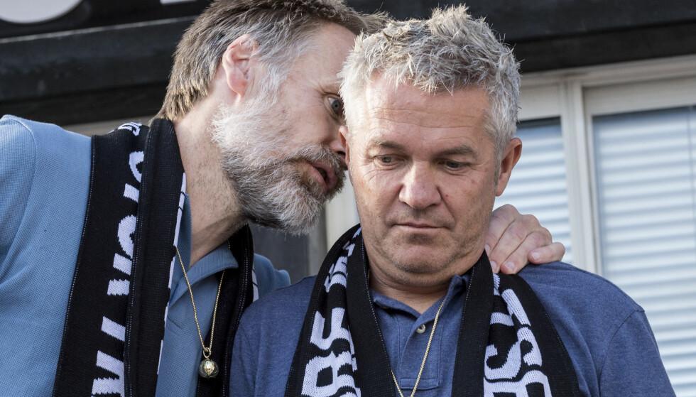 GÅR TIL SAK: Kåre Ingebrigtsen(th) og Erik Hoftun går til sak mot sin tidligere arbeidsgiver Rosenborg. Foto: Ned Alley / NTB scanpix