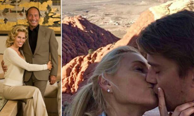 NYFORELSKET: Anna Anka var tidligere gift med Paul Anka, som var 29 år eldre enn henne. Nå har hun funnet lykken med en 19 år yngre mann. Foto: NTB Scanpix / Privat