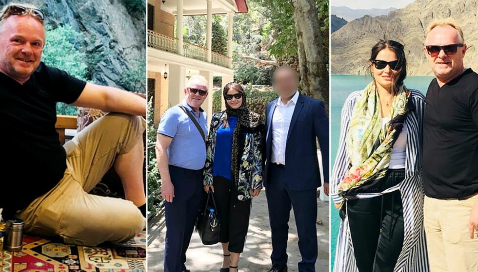 IRANFERIE: Fiskeriminister Per Sandberg reiste til Iran i ferien sammen med sin norsk-iranske venninne Bahareh Letnes. Departementet og statsministerens kontor var ikke informert på forhånd. Foto: Filter Nyheter / Instagram