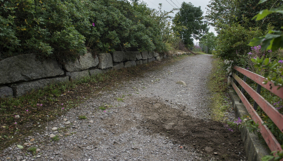 FUNNSTEDET: Stien på Varhaug i Rogaland hvor Sunniva Ødegård (13) ble funnet natt til mandag. Foto: Carina Johansen / NTB Scanpix