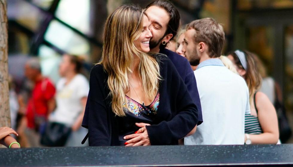 FORELSKET: Heidi Klum er tydelig forelsket i kjæresten Tom Kaulitz. Foto: NTB Scanpix