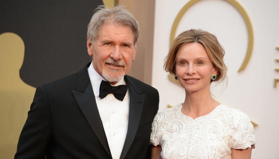 MØTTES PÅ PRISUTDELING: Hadde det ikke vært for at både Harrison Ford og Calista Flockhart er skuespillere, er det ikke sikkert de hadde møttes. Foto: NTB Scanpix