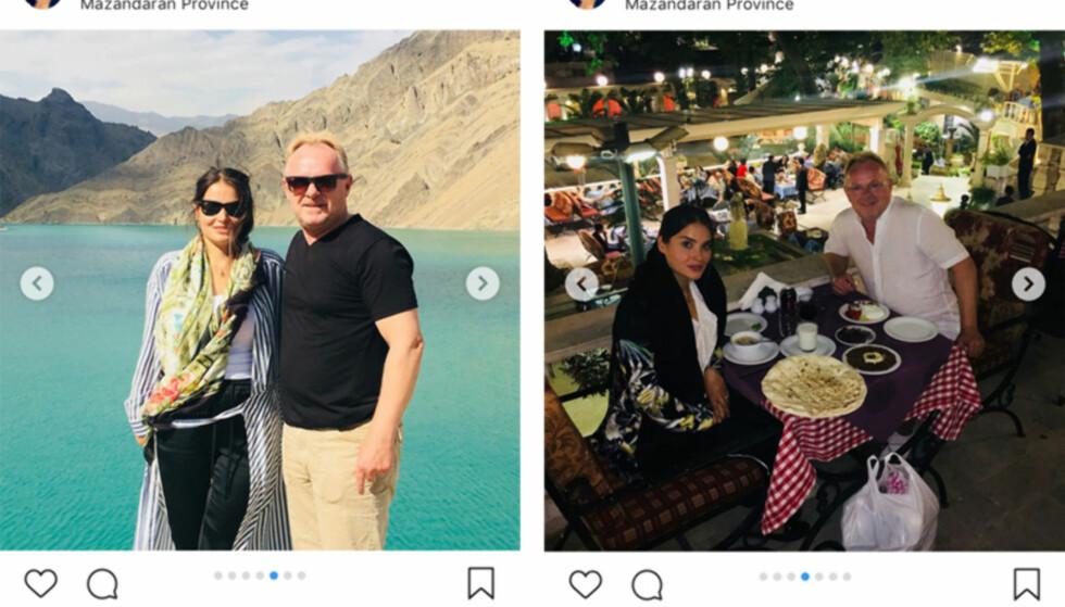 IRAN-TUR: I Iran kan ikke en mann og kvinne ha sosial omgang alene med mindre de er gift. For med det iranske presteregimet vet man aldri. Med mindre man reiser sammen med en norsk statsråd. Da ser man ut til å være trygg, skriver artikkelforfatter. Foto: skjermdump/Instagram