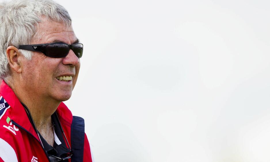 NORWAY CUP: Egil Olsen (Drillo) fra kjendiskampen på Ekebergsletta under Norway Cup 2017. Olsen var trener i årets kjendiskamp også. Foto: Vegard Grøtt / NTB scanpix