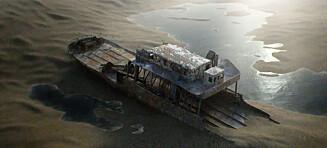 «Tungtvannsferja» ble senket i 1944. Slik ser den ut i dag