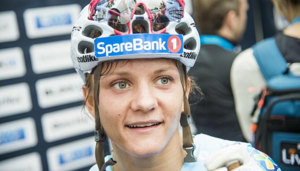 SKADE: Maiken Caspersen Falla har en betenelse i foten. FOTO: Andreas Lekang / Dagbladet